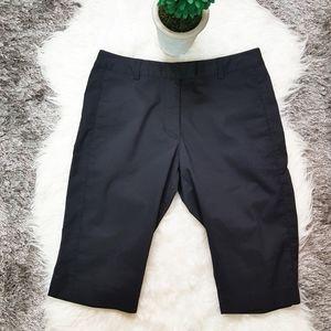 Adidas Stretch Navy Blue Long Shorts Sz 6